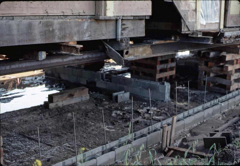 Foundation in progress under building, 1/1982. acc2005.001.0128