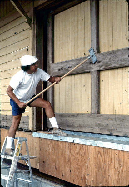Painter's Union work day (#1), 8/28/1982. acc2005.001.0297