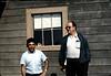 Agent Frank Vasquez and Chris Christenson at Surf depot, 8/1982.. acc2005.001.0294
