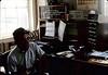 Agent Frank Vasquez at Surf depot, 8/1982.. acc2005.001.0290