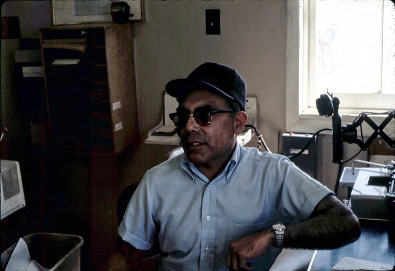 Agent Frank Vasquez at Surf depot, 8/1982. acc2005.001.0289