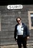 Chris Christenson at Surf depot, 8/1982. acc2005.001.0293