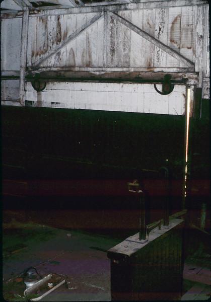 Rare shot of Freight Room interior, Jan. 1982. acc2005.001.0137