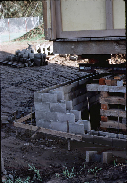 Foundation in progress under building, 1/1982. acc2005.001.0129