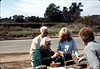 Ike and Joy Bonilla buy Depot bricks from Phyllis Olsen and Nancy Ried, Feb. 1982. acc2005.001.0164