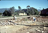 Salvaging bricks from old depot site, 11/19/1981. Nancy Ried (right). acc2005.001.0105
