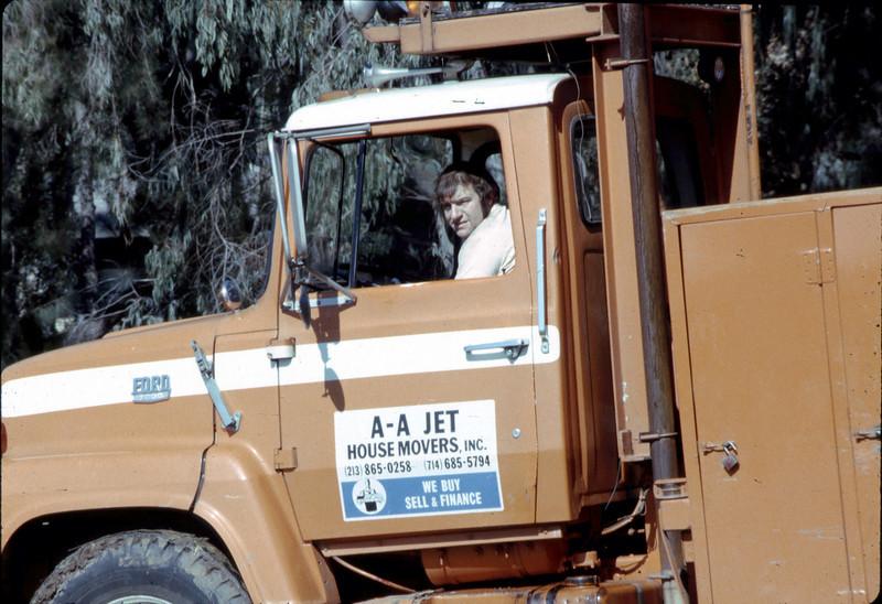 Movers leaving park site, 3/2/1982. acc2005.001.0174