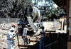 Pouring foundation for new freight dock, 8/1982. acc2005.001.0283