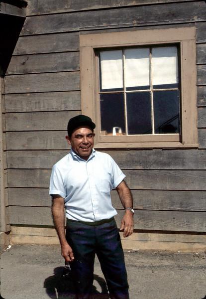 Agent Frank Vasquez at Surf depot, 8/1982. acc2005.001.0292