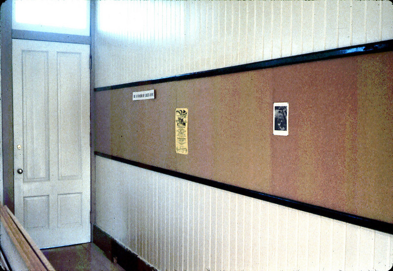 New bulletin board in Freight Office, 6/1983. acc2005.001.0363