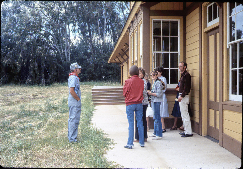 Ralph Moore gives a tour of Goleta Depot, Spring 1982.. acc2005.001.0355