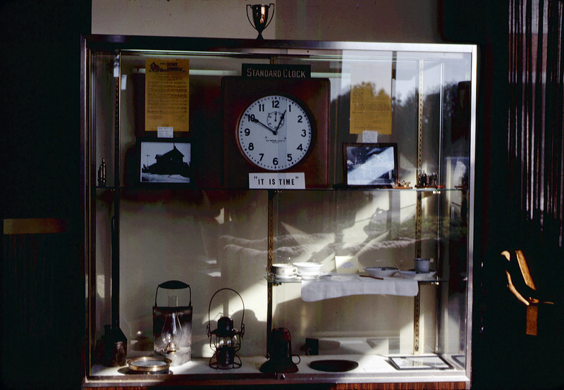 Display at Mission Federal Savings, 10/1982. acc2005.001.0373
