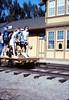 Handcar rides at museum begin, 11/1989. acc2005.001.1219
