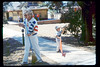 At the museum on the 4th of July (Phyllis Olsen and Russell Williams), 7/4/1990. acc2005.001.1376