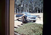 Mary Pagliotti automobile accident on museum grounds in front of Chamber of Commerce, Summer 1988. acc2005.001.1005