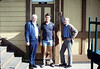 Volunteers Bob McNeel, Bob Burtness, and John Starr, 12/1987. acc2005.001.0901