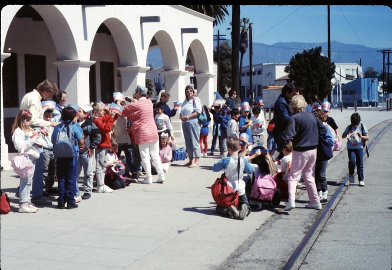 Hollister Elementary School 3rd Grade trip to San Luis Obispo, 3/14/1990. acc2005.001.1282