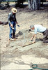 Pouring the slab for the wig-wag signal (Gene Allen, right, and Al Volkman), 5/1989. acc2005.001.1158