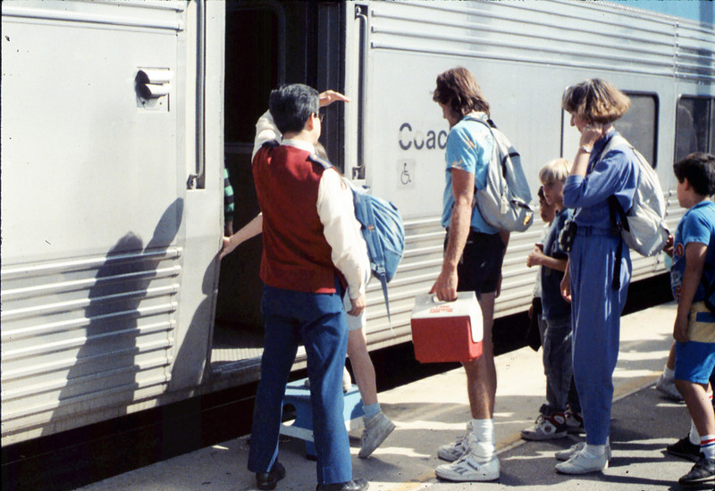 San Luis Obispo school rail trip, 5/3/1989. acc2005.001.1152