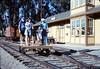 Handcar rides at museum begin, 11/1989. acc2005.001.1225