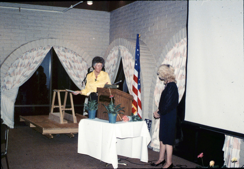 Annual Dinner at Holiday Inn (Anna Dato and Phyllis Olsen), 5/11/1989 acc2005.001.1157
