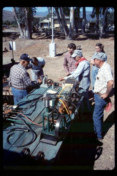 Depot Day steam display (Ernie Thomsen, Jim Higman), 10/1990. acc2005.001.1391