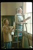 Hilda Volkman and Paul Conover wash windows, 2/1991. acc2005.001.1452