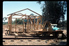 Construction of miniature-train shed, 6/1990. acc2005.001.1351