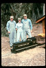 Jack Cogan and Karen and Randy Fallgatter pose with Engine #1316, 1991. acc2005.001.1453