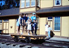 Handcar rides at museum begin, 11/1989. acc2005.001.1231