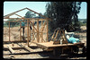 Construction of miniature-train shed, 6/1990. acc2005.001.1352