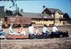 Volunteers Party, Gene Allen, Stella Kramer, Hilda Volkman, Christine Negus, 8/13/1988. acc2005.001.0998