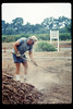 Dave Hieter working the soil, 7/1990. acc2005.001.1385