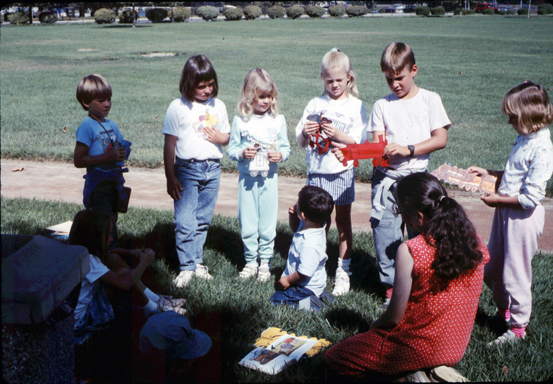 Simi Valley rail trip for Public Library's Summer Reading Program, 1989. acc2005.001.1208