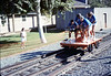 Museum group rides by rail to Calif. State Railroad Museum, Sacramento (Handcar Races), 9/1988. acc2005.001.1013