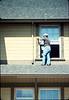 Eugene Boswell paints Goleta Depot, 7/1988. acc2005.001.0995