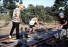 Hieter Family ballasting track at Goleta Depot, 1989. acc2005.001.1198
