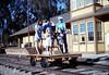 Handcar rides at museum begin, 11/1989. acc2005.001.1227