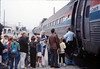 Museum leads Vieja Valley Elementary School rail trip to Glendale, 4/1989. acc2005.001.1065