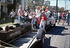 Museum entry in 1986 Goleta Valley Days Parade. Phyllis Olsen, Bill McNally & children from La Patera Elementary School. acc2005.001.0648