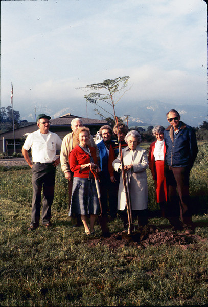 Arbor Day tree planting (Little Gardens Club), 3/1986. acc2005.001.0547