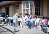 Phyllis Olsen leads a tour for La Patera Elementary School classes, 4/15/1987. acc2005.001.0742