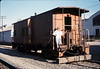 Phyllis Olsen with Caboose 4023 at La Patera, 9/21/1986 acc2005.001.0612