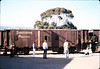 X7545 east-bound local delivers Caboose 4023 to La Patera spur, 9/21/1986 acc2005.001.0605