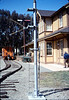 Train-order post from Santa Barbara station has a new Goleta home, 3/1987 acc2005.001.0696
