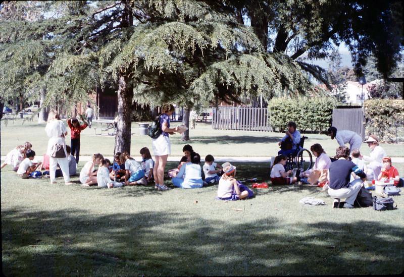 La Patera Elementary School rail trip to San Luis Obispo, 4/23/1987. acc2005.001.0788
