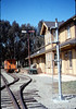 Train-order post from Santa Barbara station has a new Goleta home, 3/1987 acc2005.001.0695