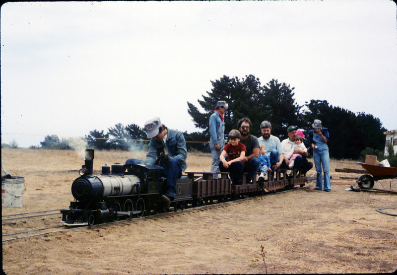 Fourth of July miniature-train rides, 7/4/1987 acc2005.001.0829