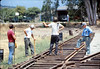 Standard-gauge track laying, 1985. acc2005.001.0539