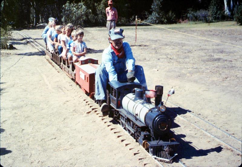 Santa Barbara Railroad Centennial (Perry Adams, engineer), 8/1987 acc2005.001.0859